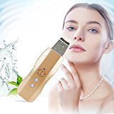 Carer Skin Scrubber Machine Blackhead Remover Acne Comedo Extractors Facial Lifting Treatment Rechargeable Facial Scrubber Dermabrasion Peeling Machine Skin Gold