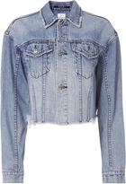 Ksubi Daggerz Distressed Crop Trucker Jacket