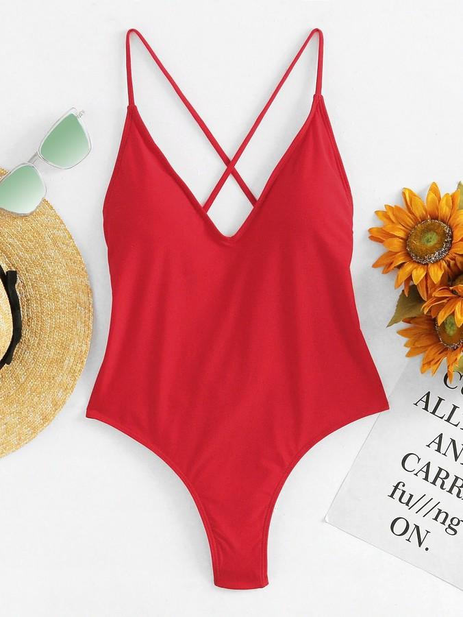 a5e6e1c312036 Criss Cross Back Swimsuit - ShopStyle