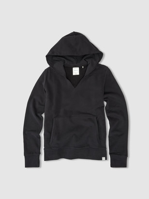 Jason Scott Split Neck Hoodie - Black