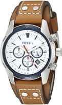 Fossil Men's CH2986 Coachman Analog Display Quartz Brown Watch
