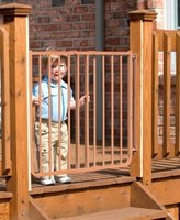 Cardinal Gates Stairway Special Baby/Pet Gate for Outdoors Colors: Brown