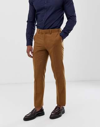 Harry Brown slim fit 50% wool tweed suit trouser