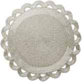 Leila's Linens S/4 All Beaded Place Mat, Silver