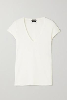 Tom Ford Stretch-linen T-shirt