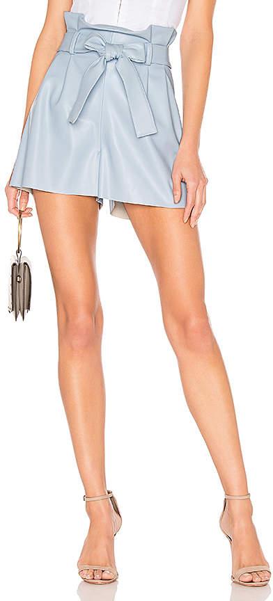Amanda Uprichard Tessi Faux Leather Shorts