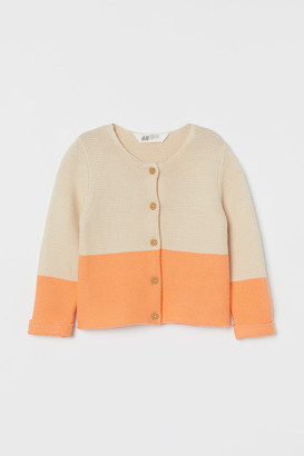 H&M Knit Cotton Cardigan - Beige
