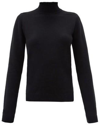 Rick Owens High-neck Cashmere-blend Sweater - Black
