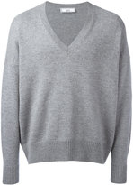 Ami Alexandre Mattiussi oversized V-neck sweater - men - Cashmere/Wool - S
