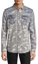 Buffalo David Bitton Camouflage Cotton Button-Down Shirt