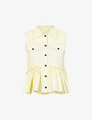 Brogger Else sleeveless stretch-cotton top