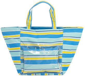 Vue Boca Stripe Beach Tote With Pillow