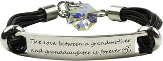 Swarovski Pink Box Women's Bracelets AB - Stainless Steel Grandmom Bracelet With Crystals