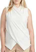 Lauren Ralph Lauren Plus Jersey Surplice Top