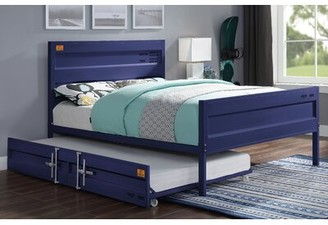 Zoomie Kids Otero Platform Bed with Trundle Size: Full, Bed Frame Color: Blue
