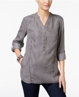 Style&Co. Style & Co Denim Roll-Tab Tunic, Only at Macy's