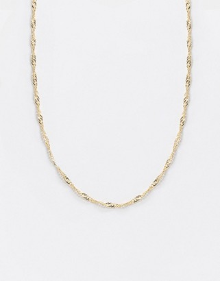 Topshop fine necklace in gold