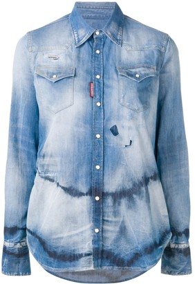 DSQUARED2 Tie-Dye Denim Shirt