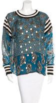 Anna Sui Silk Long Sleeve Top