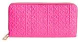 Loewe Women's Leather Zip Around Wallet - Pink