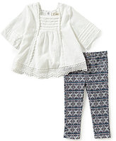 Jessica Simpson Baby Girls 12-24 Months Tunic and Printed Twill Jeans Set