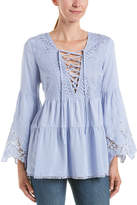 En Creme Total Lace-Up Tunic
