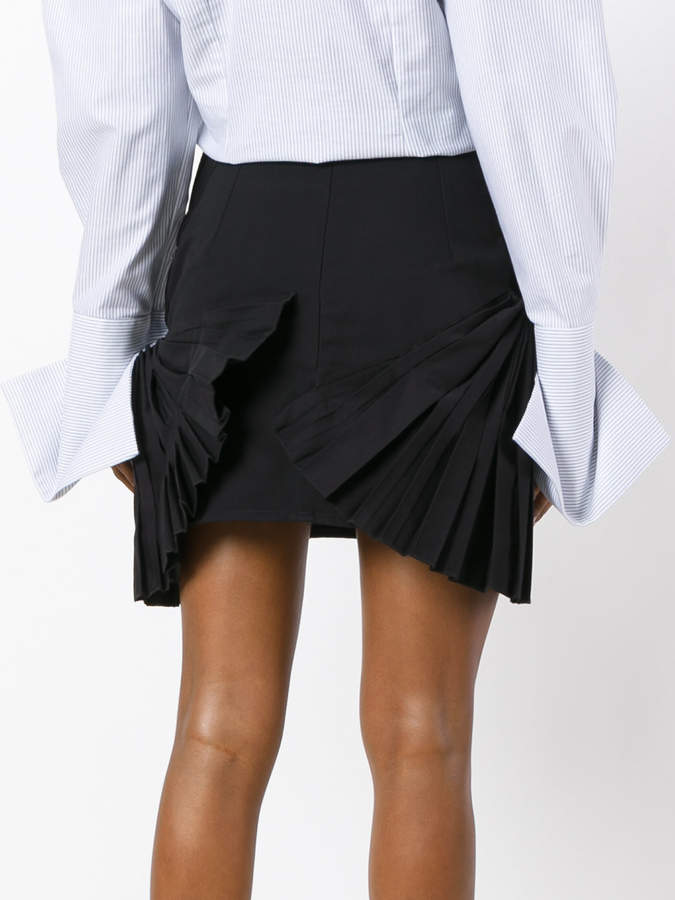 Jacquemus pleated detail mini skirt