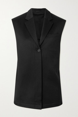 WRIGHT LE CHAPELAIN Wool-twill Vest - Black