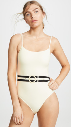 Solid & Striped The Nina Belt One Piece Swimsuit