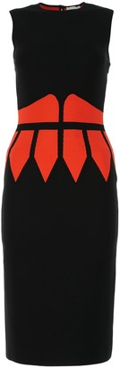 Alexander McQueen Contrast Geometric Pattern Dress