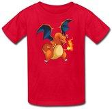Radyk56rtyh Kid's 100% Cotton Pokemon Charizard Funny T-Shirt US Size M