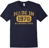 Børn Men's in 1970 Tshirt 47th Birthday Gifts 47 yrs Years Made in Large