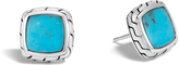 John Hardy Women's Classic Chain Stud Earring in Sterling Silver with Natural Arizona Turquoise