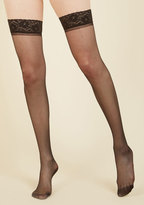 ModCloth Seam to It Thigh Highs in Black in L