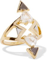 Noir Kalliope gold and silver-tone crystal ring