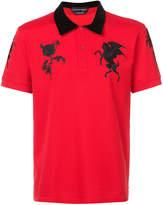 Alexander McQueen embroidered polo