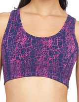 Yummie By Heather Thomson Medium Support Printed Racerback Sports Bra