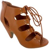 Tan Studded Roman Sandal