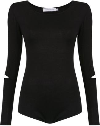 Gloria Coelho Long Sleeves Knit Bodysuit