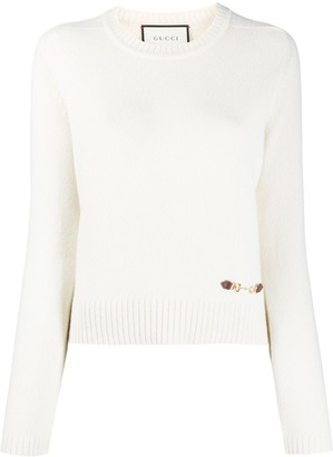 Gucci Horsebit-detail knitted jumper