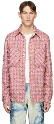 Faith Connexion SSENSE Exclusive Pink Tweed Shirt