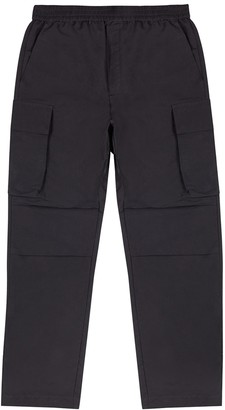 Wood Wood Halsey charcoal satin-shell cargo trousers