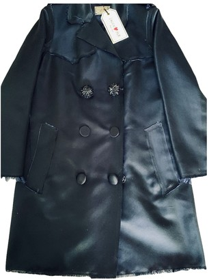Lanvin For H&m Blue Silk Trench Coat for Women
