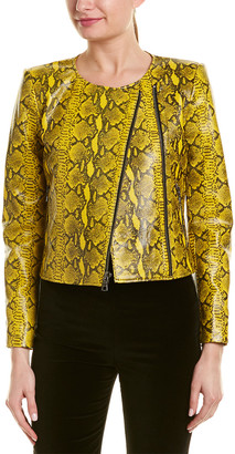 Alice + Olivia Stanton Leather Jacket