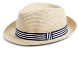 Boy's Nolan Glove Braided Fedora - Beige