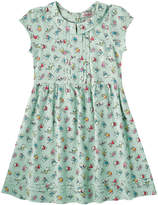 Cath Kidston Dancing Kittens Girls Pin Tuck Dress