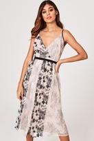 Little Mistress Tabitha Mink Vintage Lace And Sequin Midi Dress