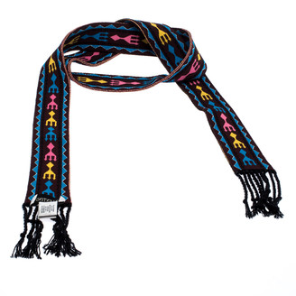 Valentino Multicolor Jacquard Knit Bandeau Scarf