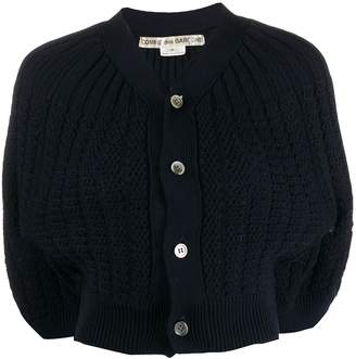 Comme des Garcons Pre-Owned cropped ribbed cardigan