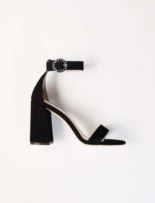 Maje Crocodile-effect calfskin loafers